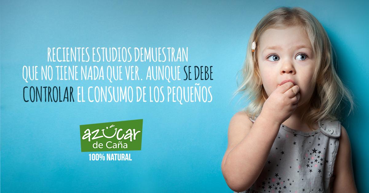 El azúcar puede mejorar la alimentación infantil.