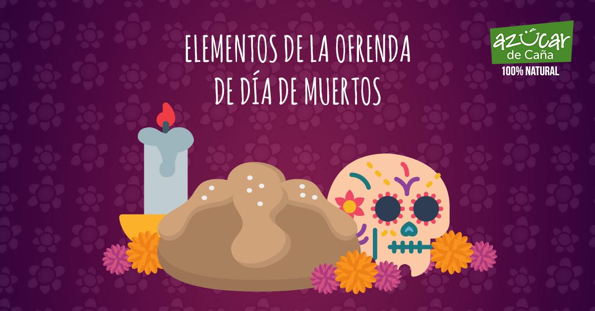 Elementos de la ofrenda de Día De Muertos