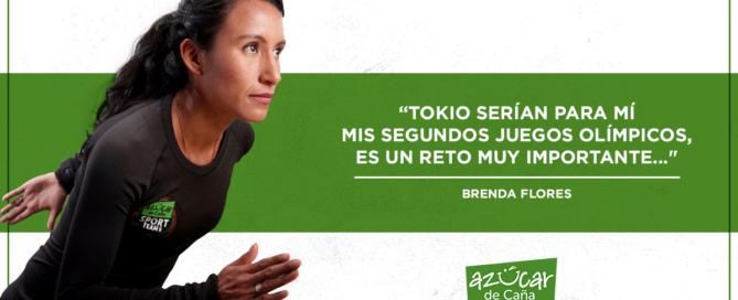 Brenda Flores, con el paso firme.